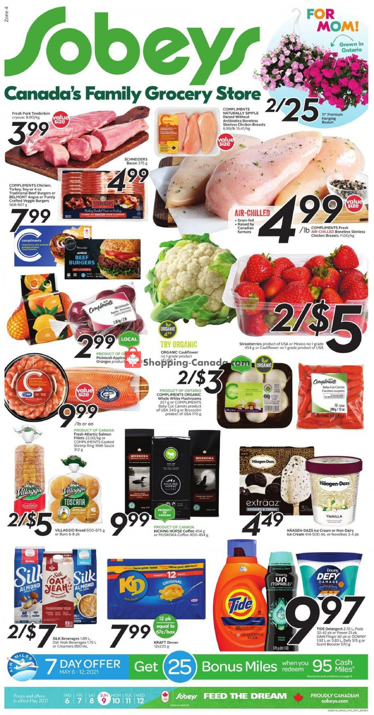 Flyer Sobeys Canada - from Thursday May 6, 2021 to Wednesday May 12, 2021