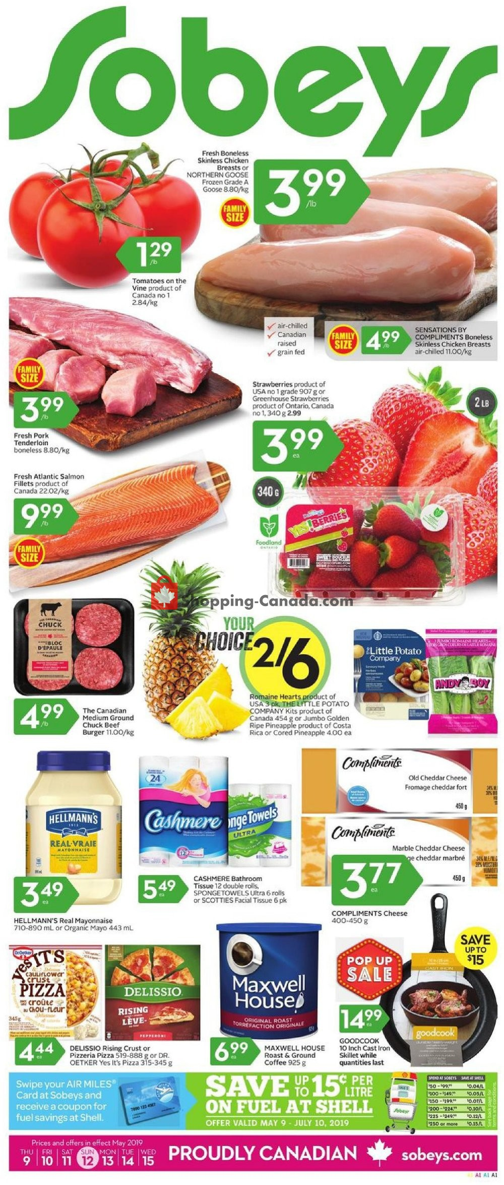 Flyer Sobeys Canada - from Thursday May 9, 2019 to Wednesday May 15, 2019
