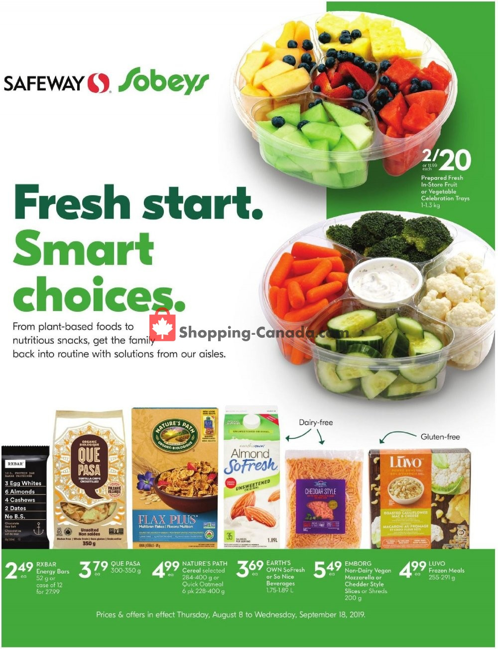 Flyer Sobeys Canada - from Thursday August 8, 2019 to Wednesday September 18, 2019