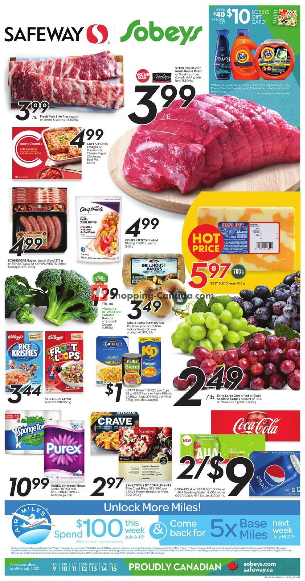 Flyer Sobeys Canada - from Thursday July 9, 2020 to Wednesday July 15, 2020