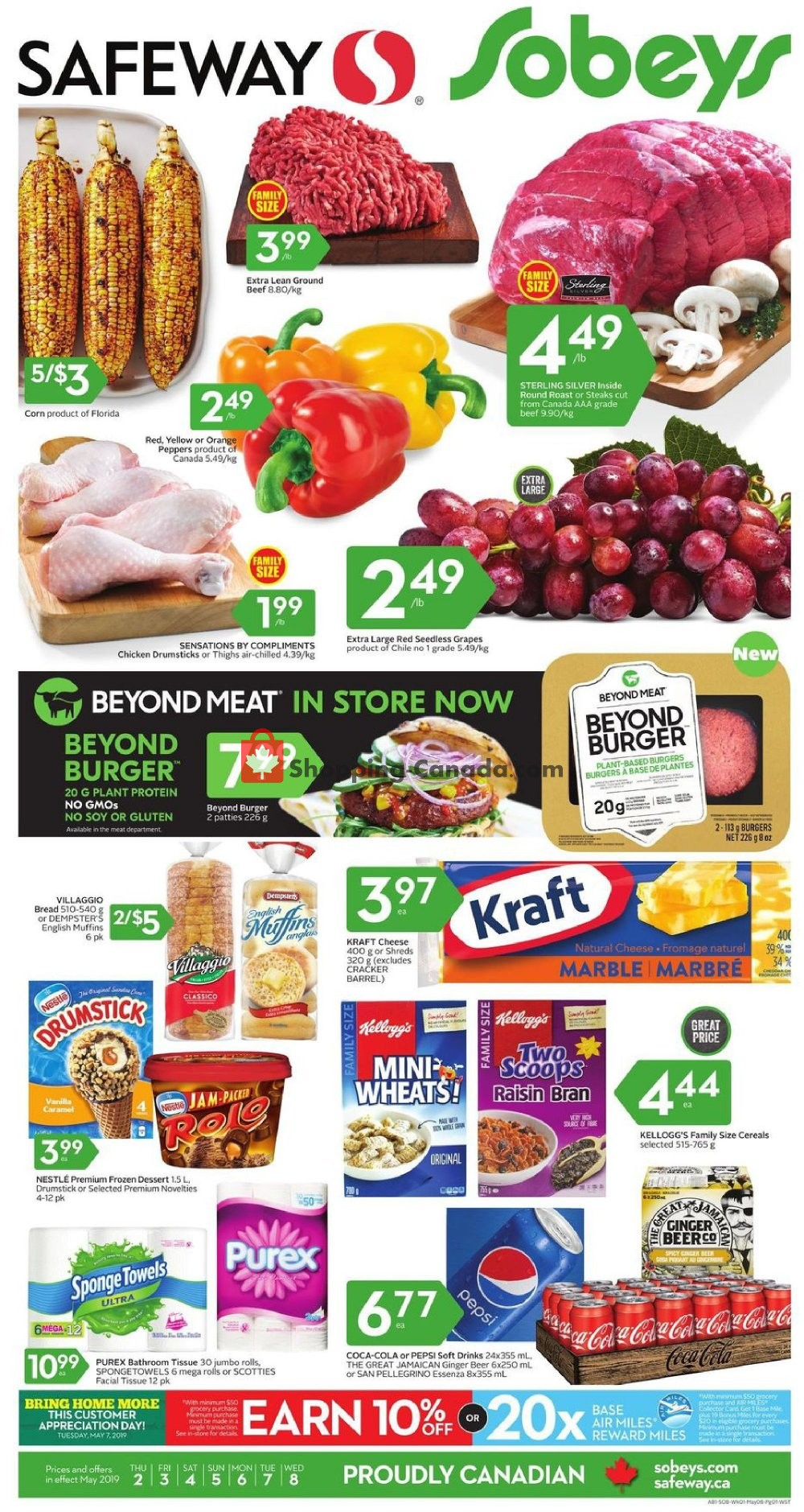 Flyer Sobeys Canada - from Thursday May 2, 2019 to Wednesday May 8, 2019