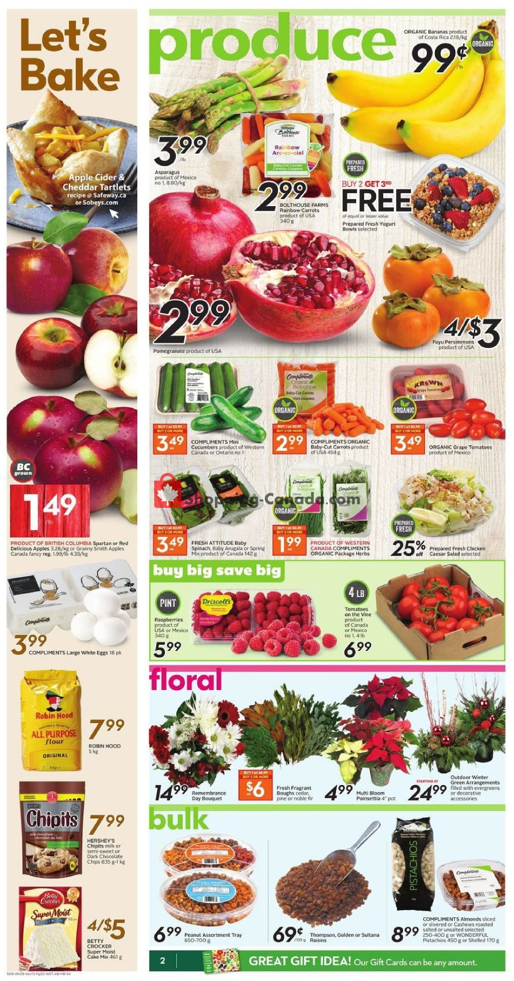 Flyer Sobeys Canada - from Thursday November 7, 2019 to Wednesday November 13, 2019
