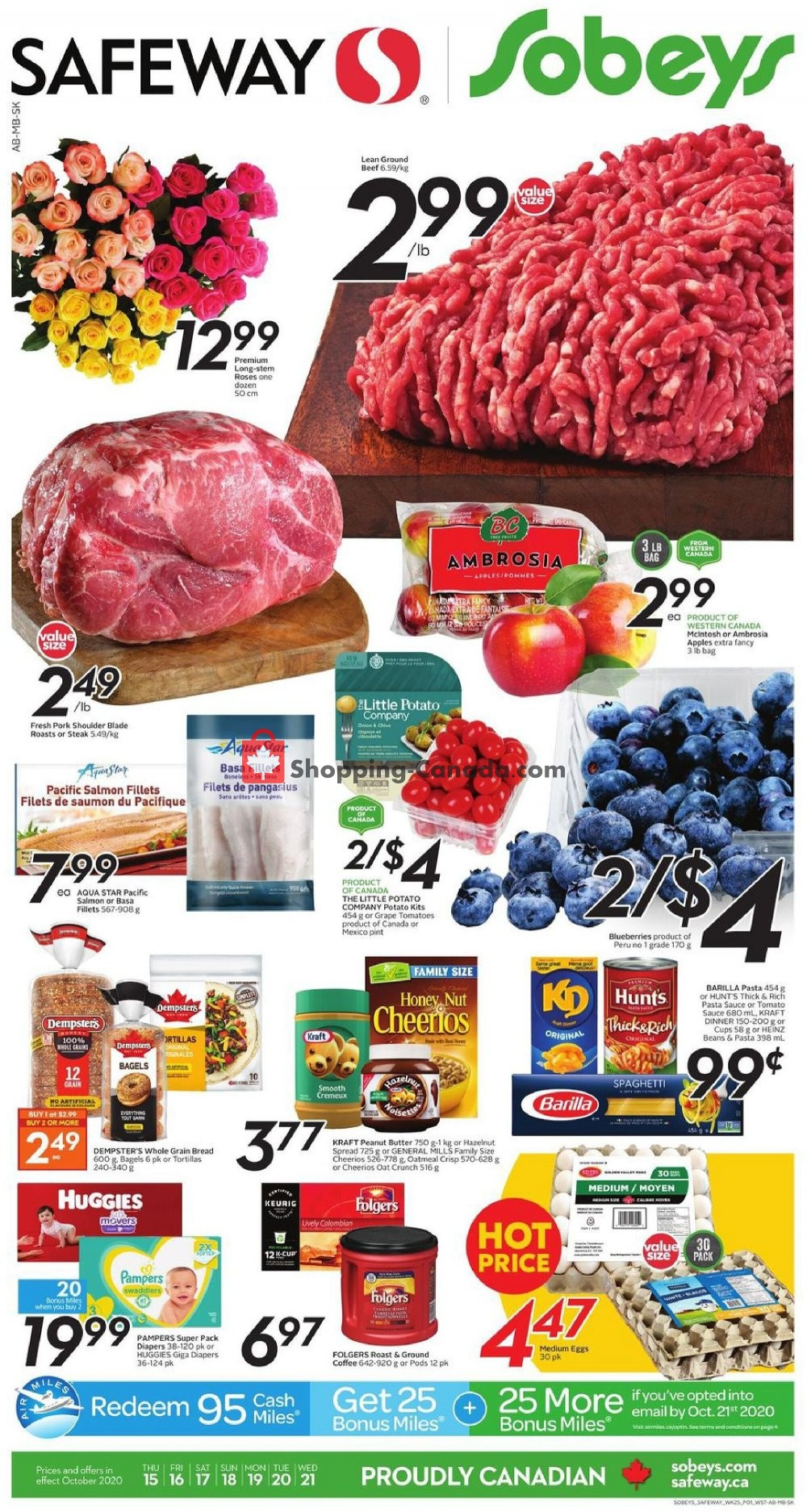 Flyer Sobeys Canada - from Thursday October 15, 2020 to Wednesday October 21, 2020