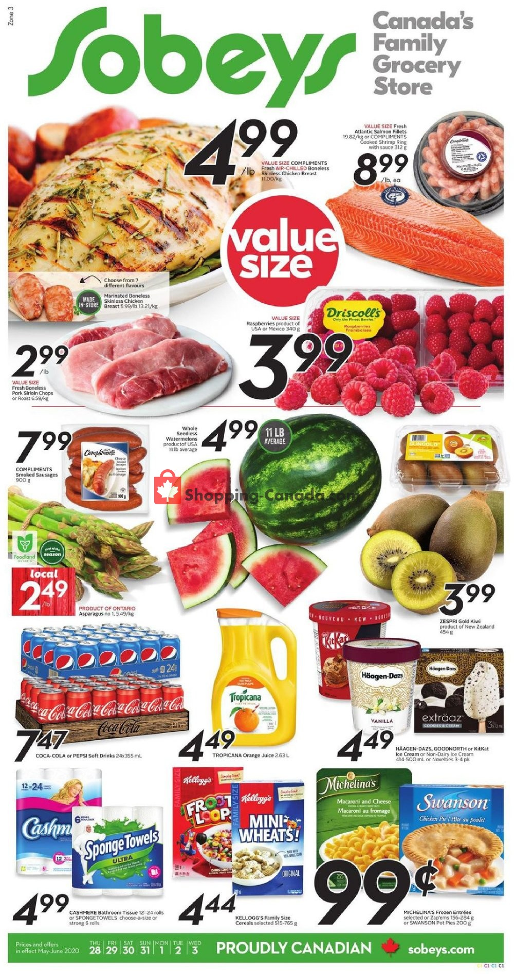 Flyer Sobeys Canada - from Thursday May 28, 2020 to Wednesday June 3, 2020