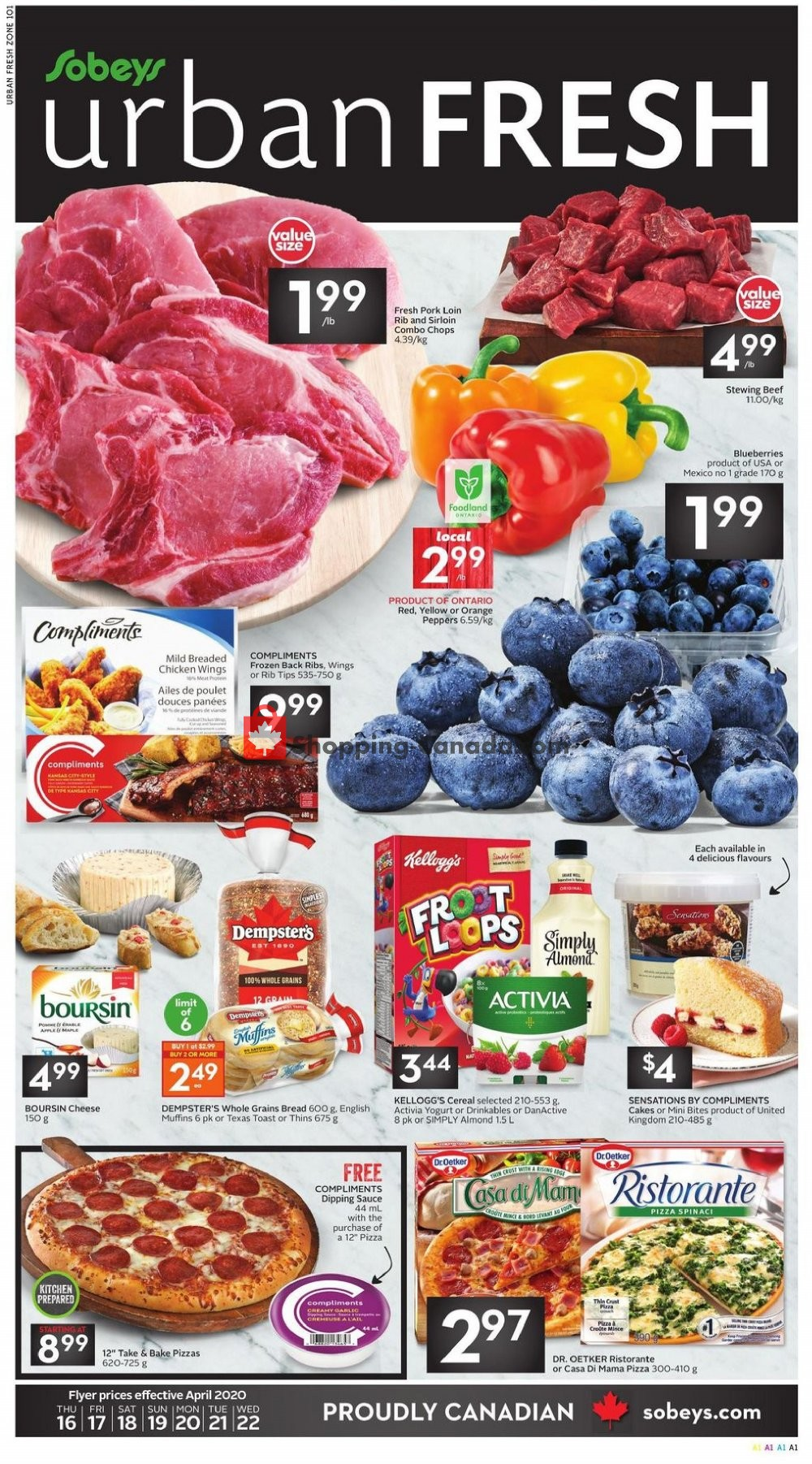 Flyer Sobeys Canada - from Thursday April 16, 2020 to Wednesday April 22, 2020