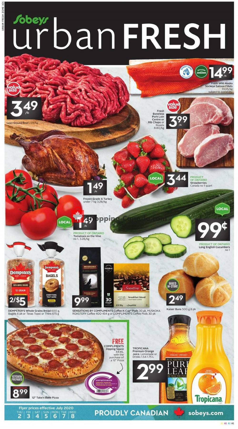 Flyer Sobeys Canada - from Thursday July 2, 2020 to Wednesday July 8, 2020