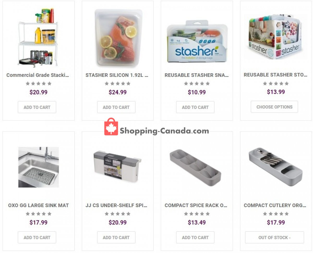 Flyer Solutions - Your Organized Living Store Canada - from Tuesday October 12, 2021 to Monday October 18, 2021