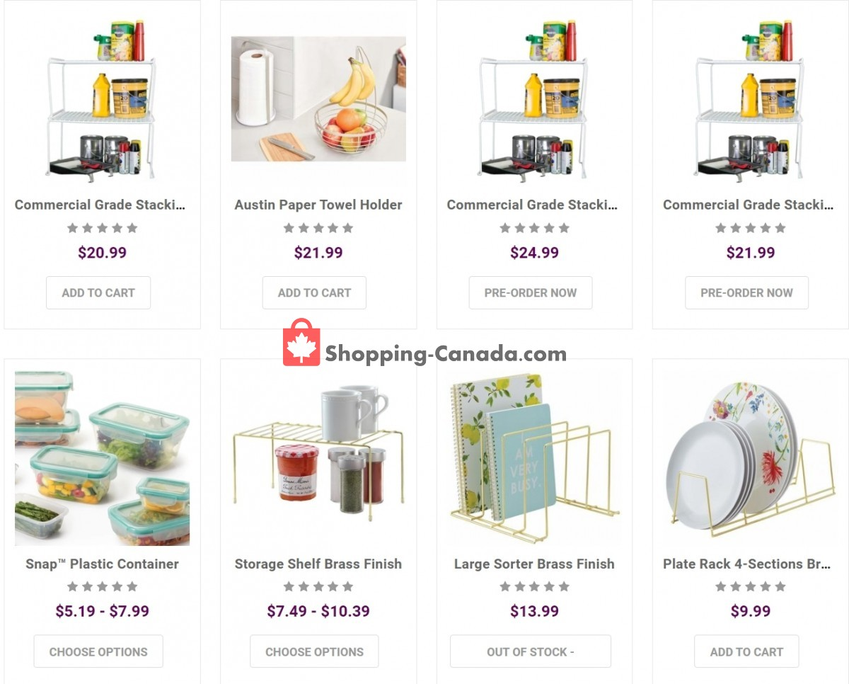 Flyer Solutions - Your Organized Living Store Canada - from Wednesday March 31, 2021 to Tuesday April 6, 2021