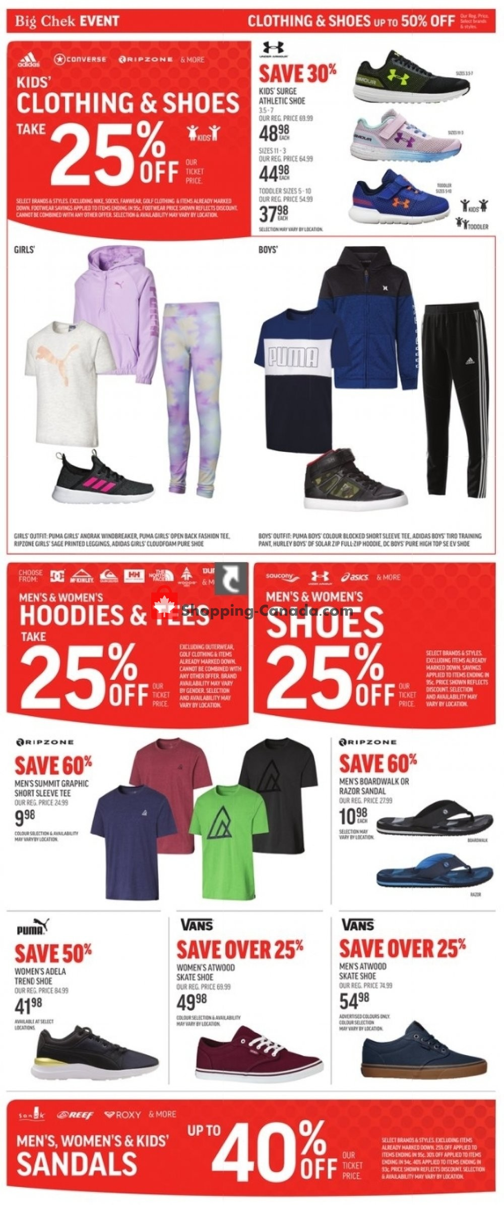 Flyer Sport Chek Canada - from Friday August 30, 2019 to Wednesday September 11, 2019