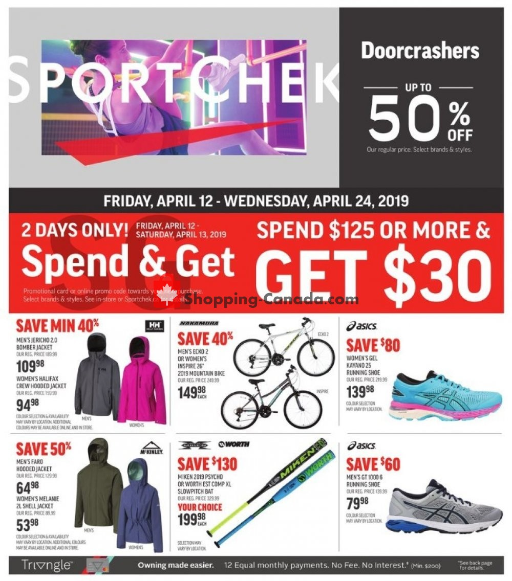 Flyer Sport Chek Canada - from Friday April 12, 2019 to Wednesday April 24, 2019