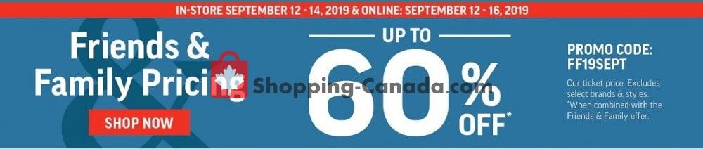 Flyer Sport Chek Canada - from Thursday September 12, 2019 to Monday September 16, 2019