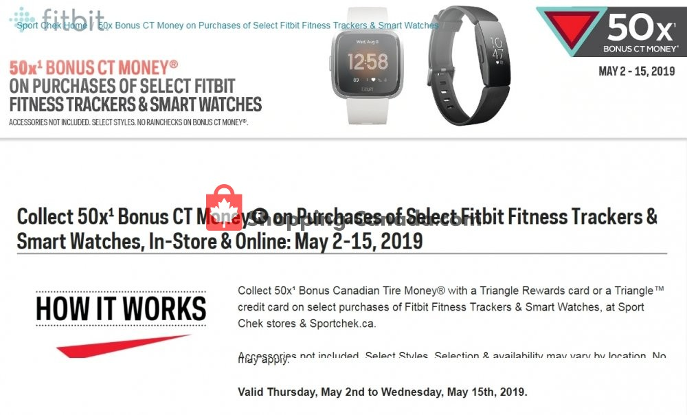 Flyer Sport Chek Canada - from Thursday May 2, 2019 to Wednesday May 15, 2019