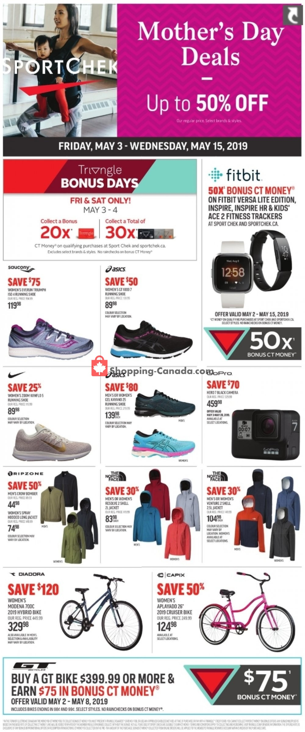 Flyer Sport Chek Canada - from Friday May 3, 2019 to Wednesday May 15, 2019