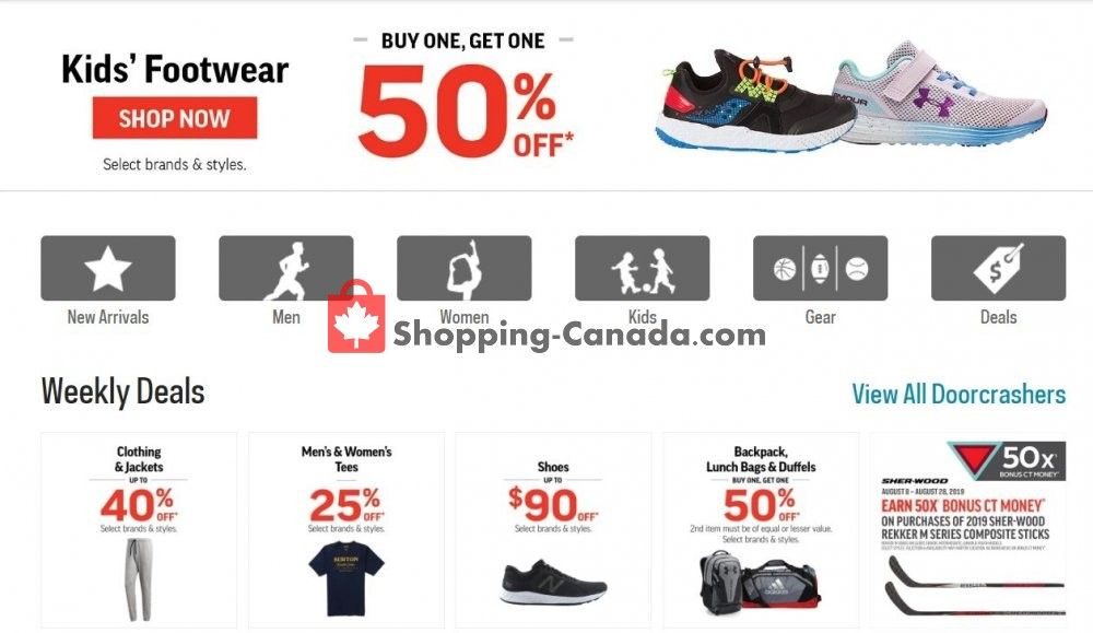 Flyer Sport Chek Canada - from Thursday August 8, 2019 to Wednesday August 14, 2019