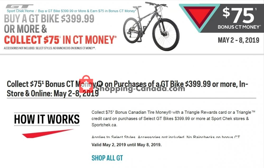 Flyer Sport Chek Canada - from Thursday May 2, 2019 to Wednesday May 8, 2019