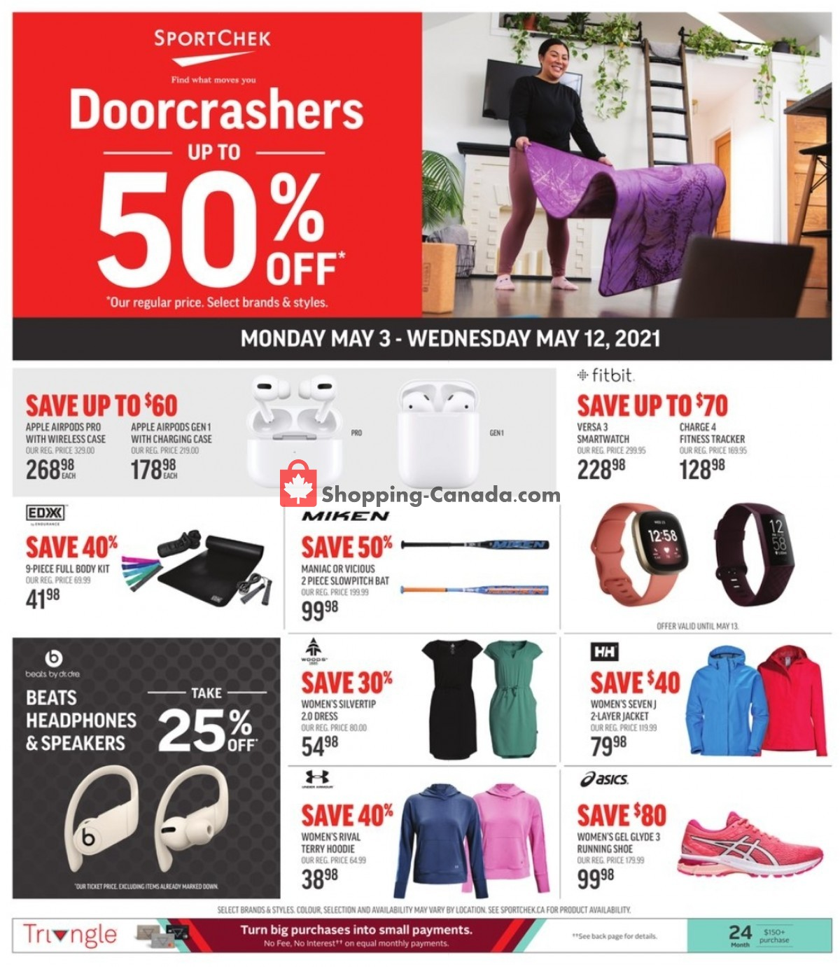Flyer Sport Chek Canada - from Monday May 3, 2021 to Wednesday May 12, 2021