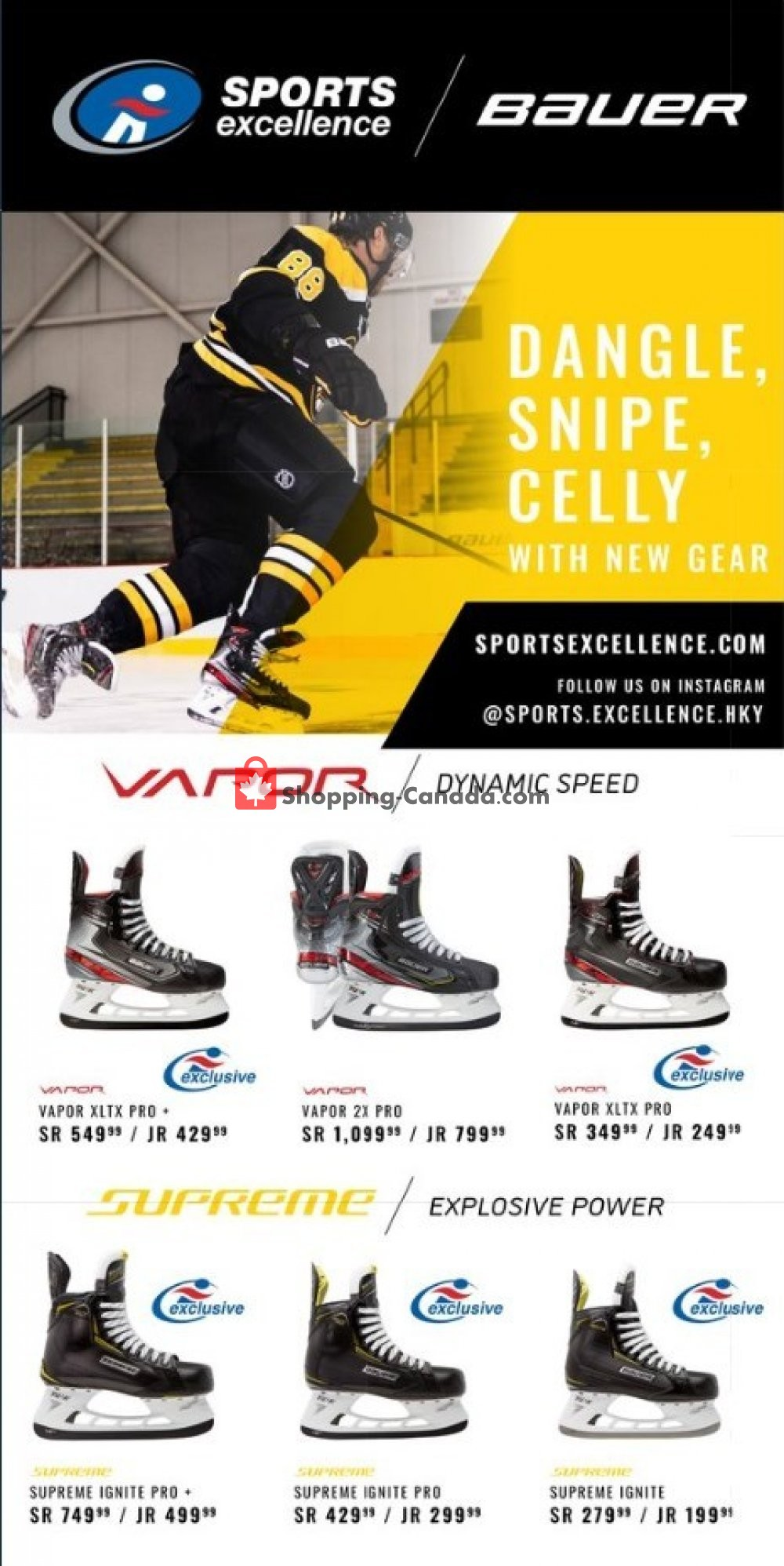 Flyer Sports Excellence Canada - from Friday August 2, 2019 to Friday August 9, 2019