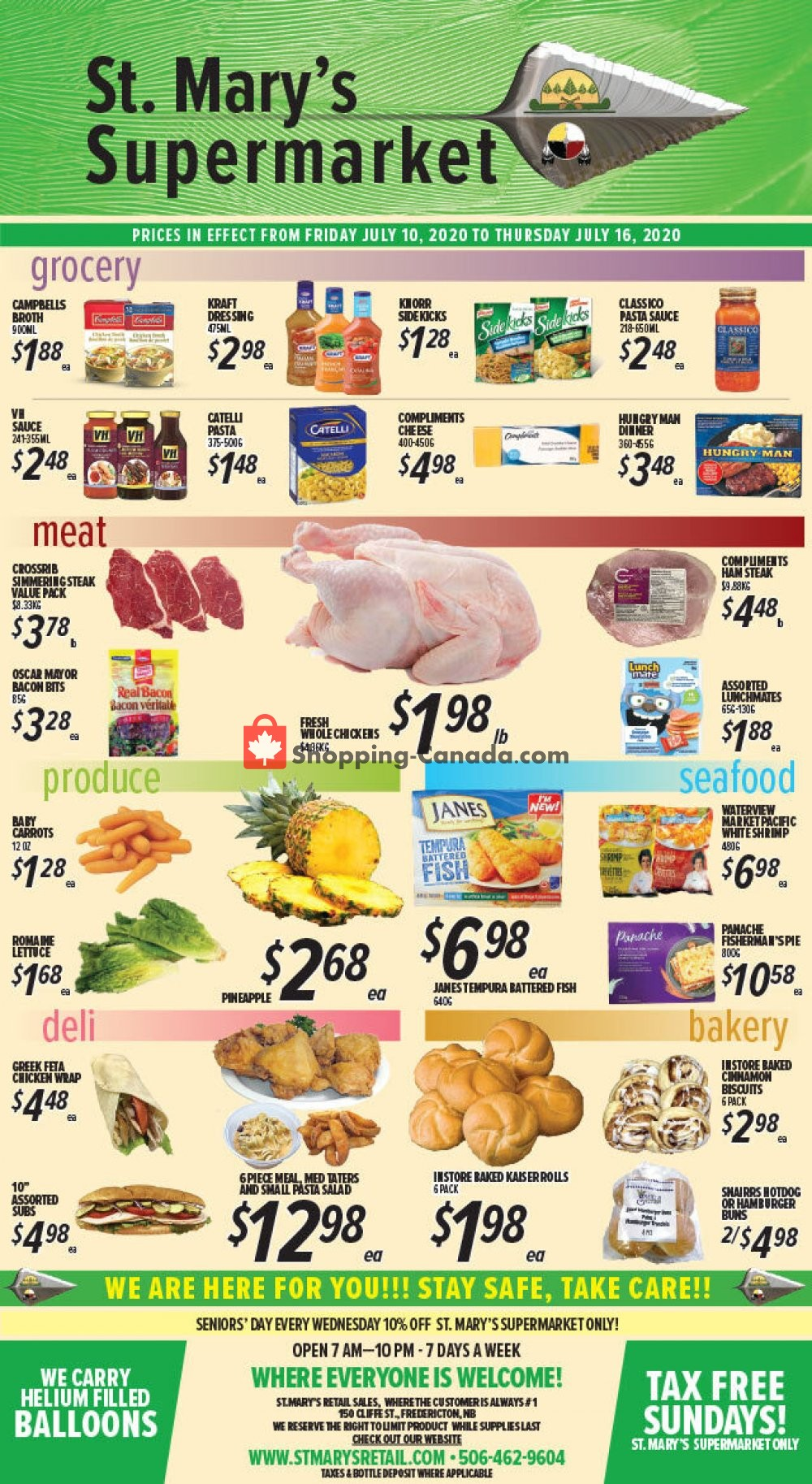 Flyer St. Mary's Supermarket Canada - from Friday July 10, 2020 to Thursday July 16, 2020