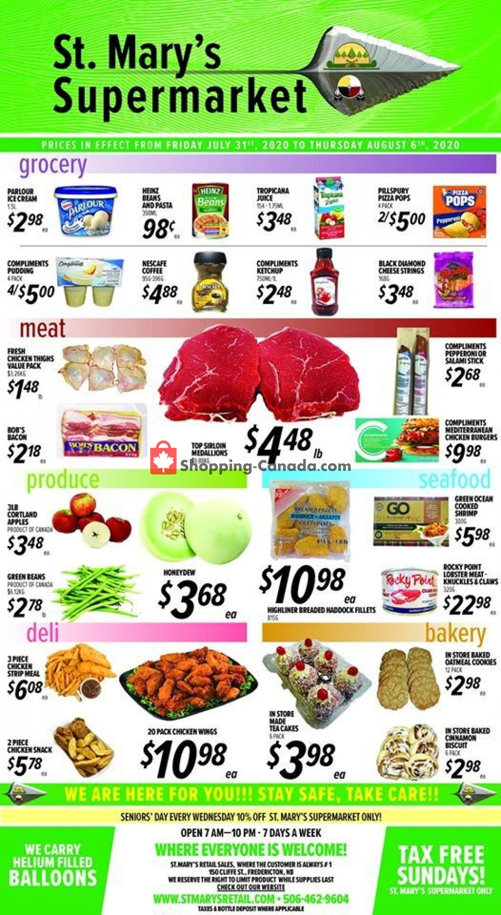 Flyer St. Mary's Supermarket Canada - from Friday July 31, 2020 to Thursday August 6, 2020