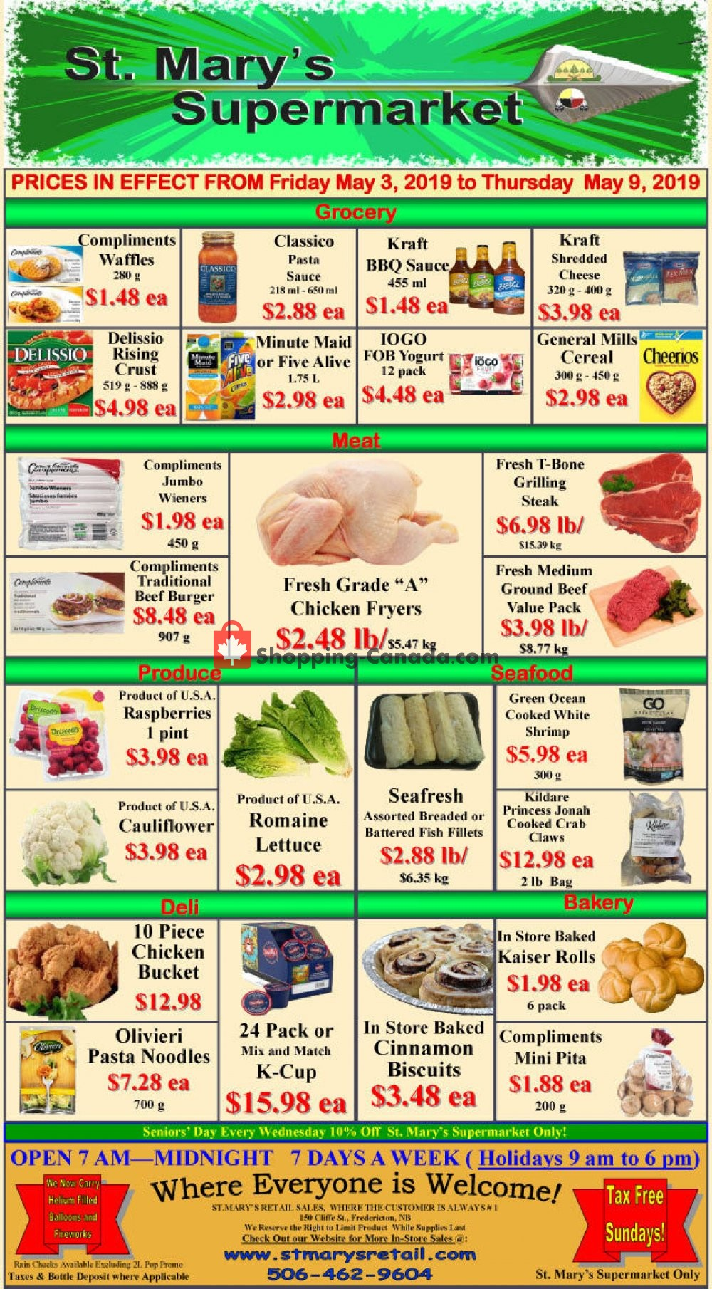 Flyer St. Mary's Supermarket Canada - from Friday May 3, 2019 to Thursday May 9, 2019