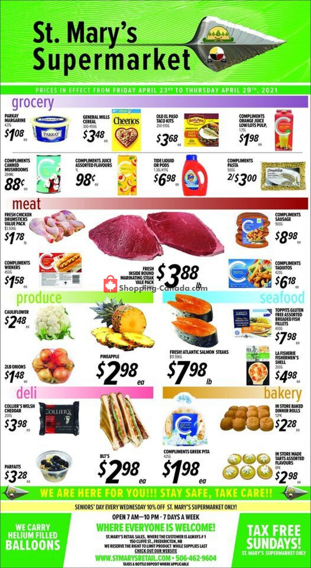 Flyer St. Mary's Supermarket Canada - from Friday April 23, 2021 to Thursday April 29, 2021