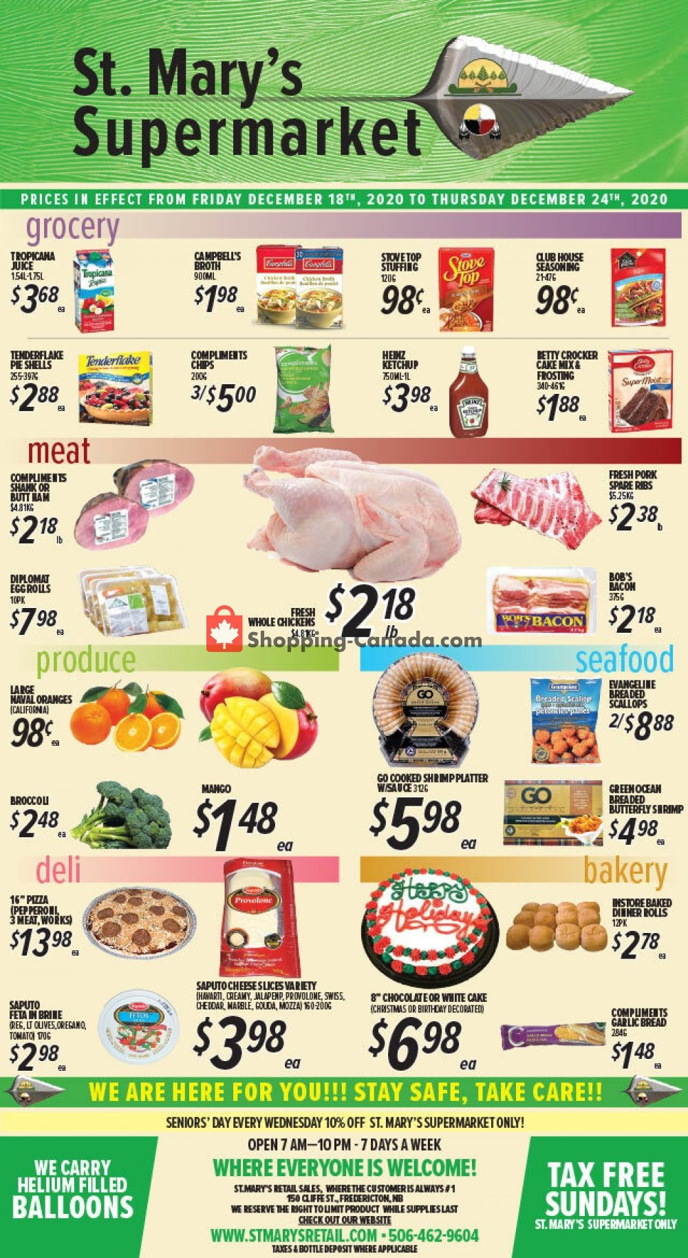 Flyer St. Mary's Supermarket Canada - from Friday December 18, 2020 to Thursday December 24, 2020