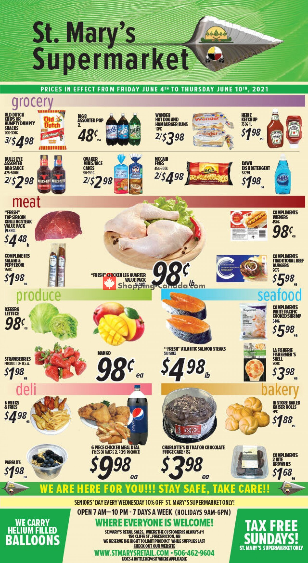 Flyer St. Mary's Supermarket Canada - from Friday June 4, 2021 to Thursday June 10, 2021