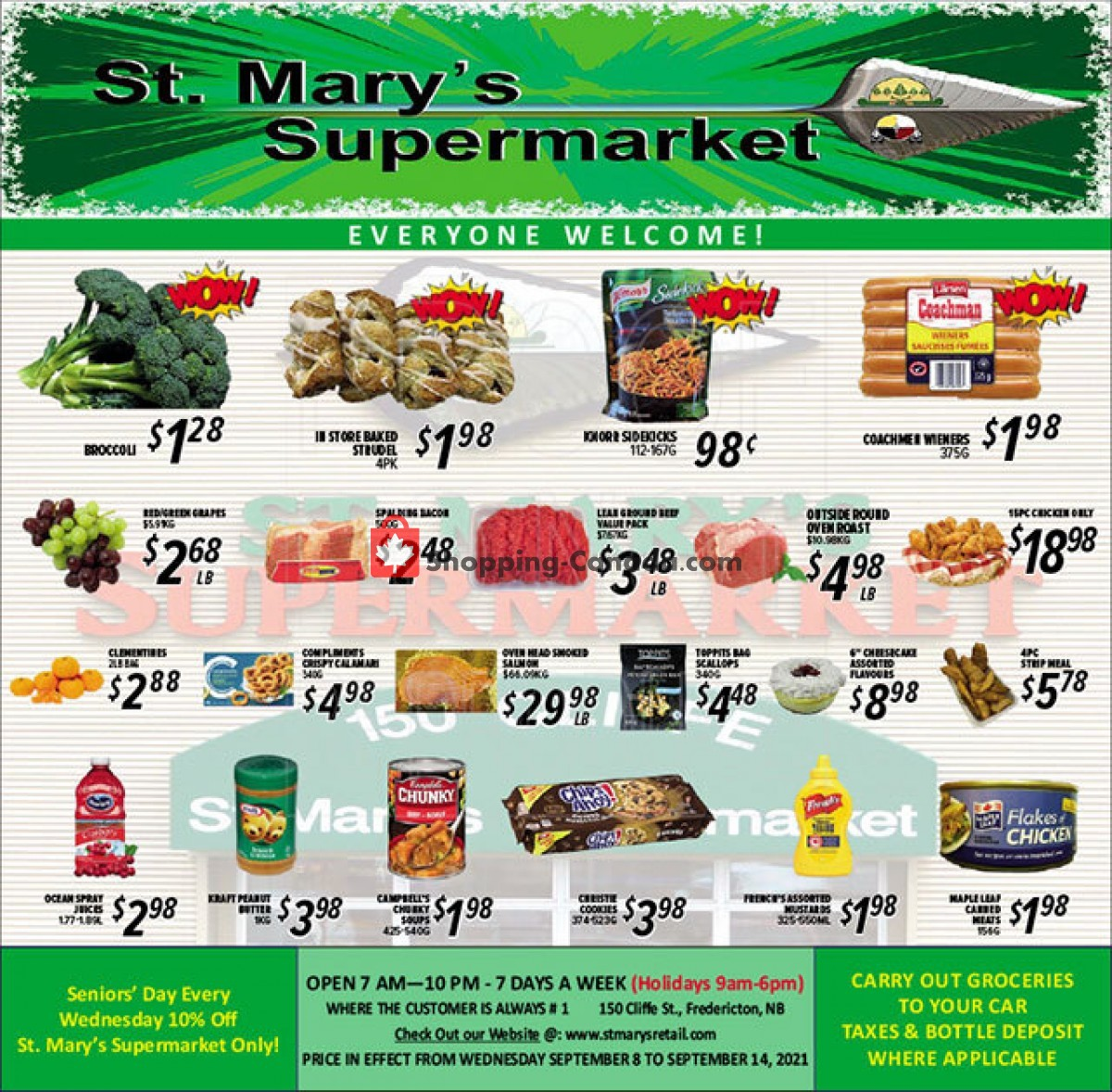 Flyer St. Mary's Supermarket Canada - from Wednesday September 8, 2021 to Tuesday September 14, 2021