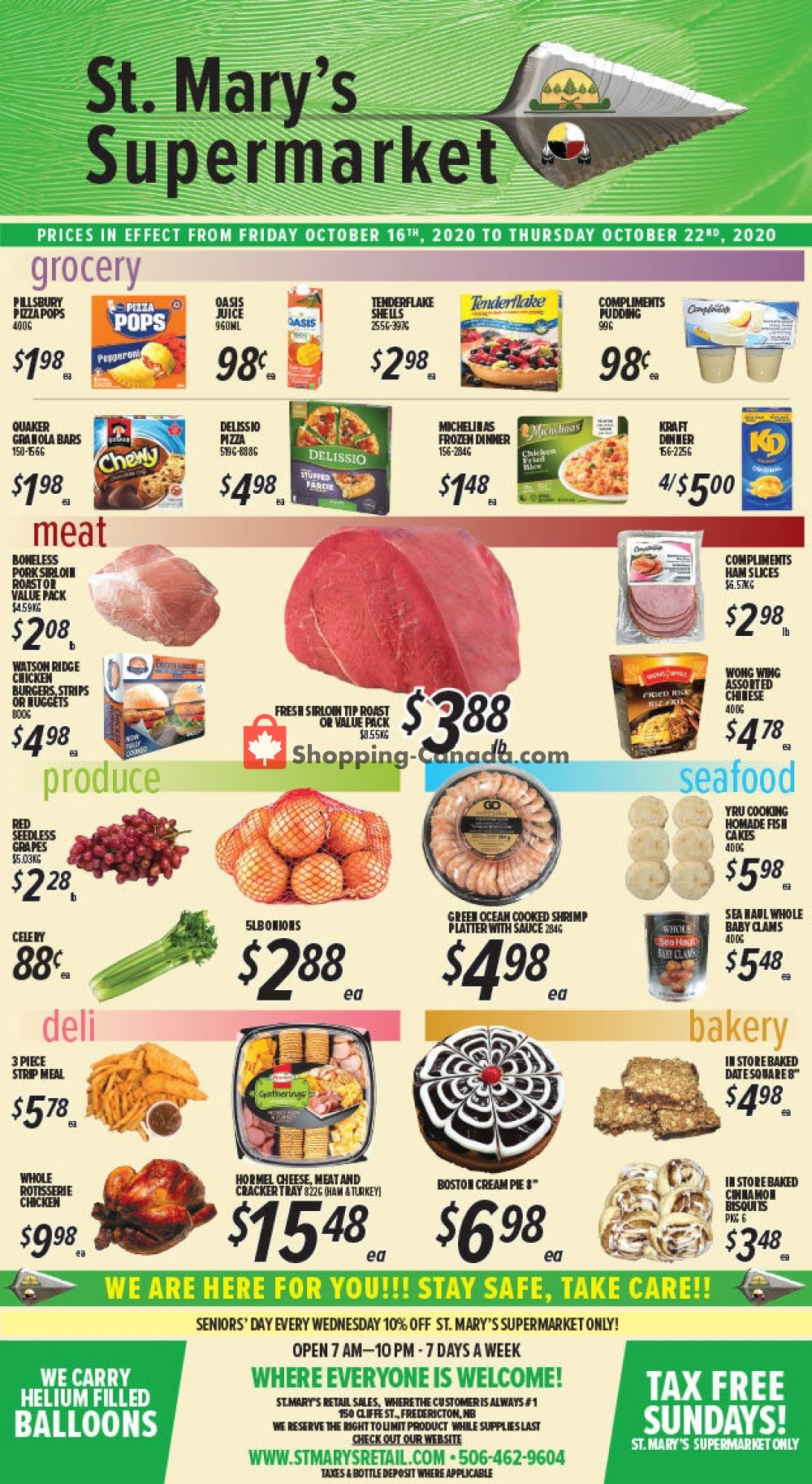 Flyer St. Mary's Supermarket Canada - from Friday October 16, 2020 to Thursday October 22, 2020