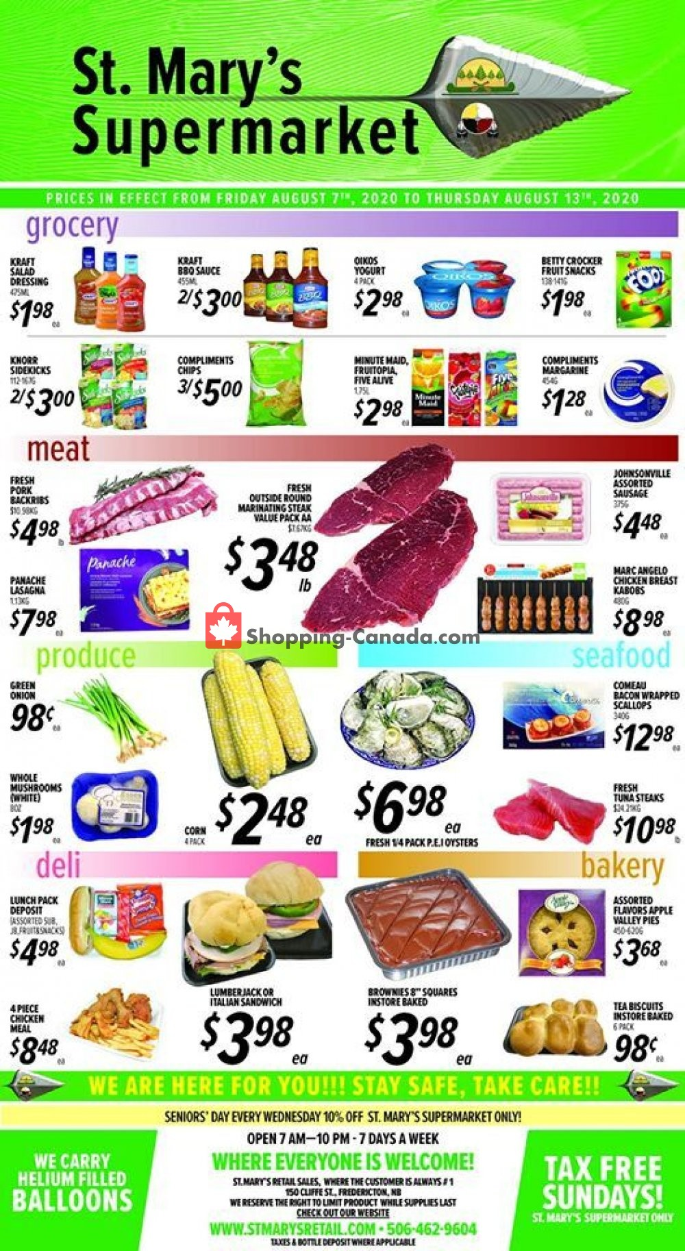 Flyer St. Mary's Supermarket Canada - from Friday August 7, 2020 to Thursday August 13, 2020