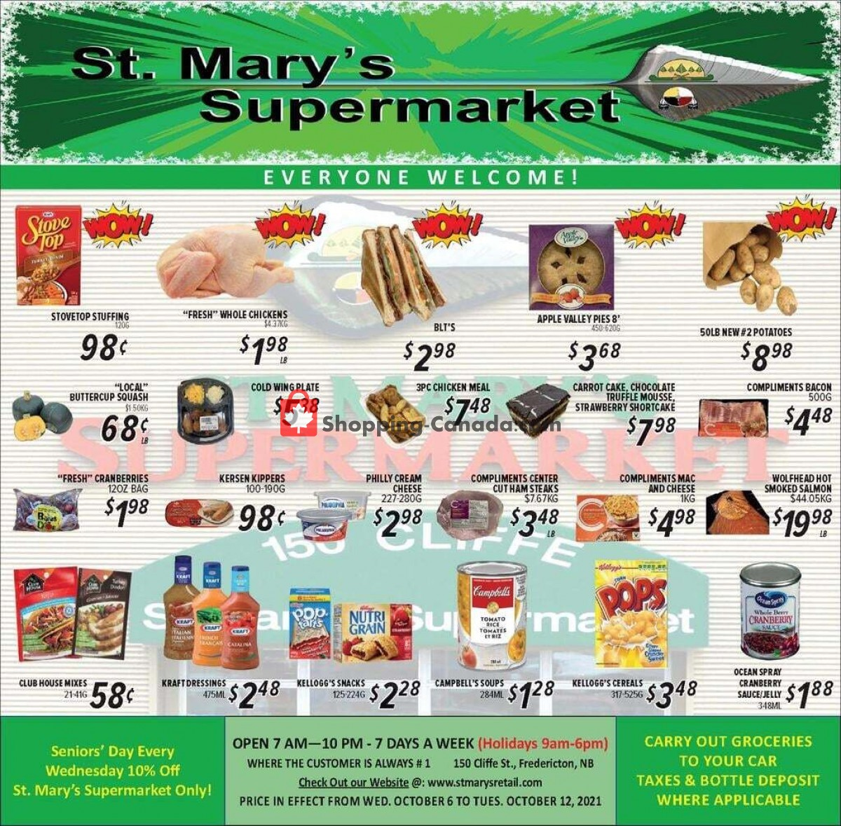 Flyer St. Mary's Supermarket Canada - from Wednesday October 6, 2021 to Tuesday October 12, 2021
