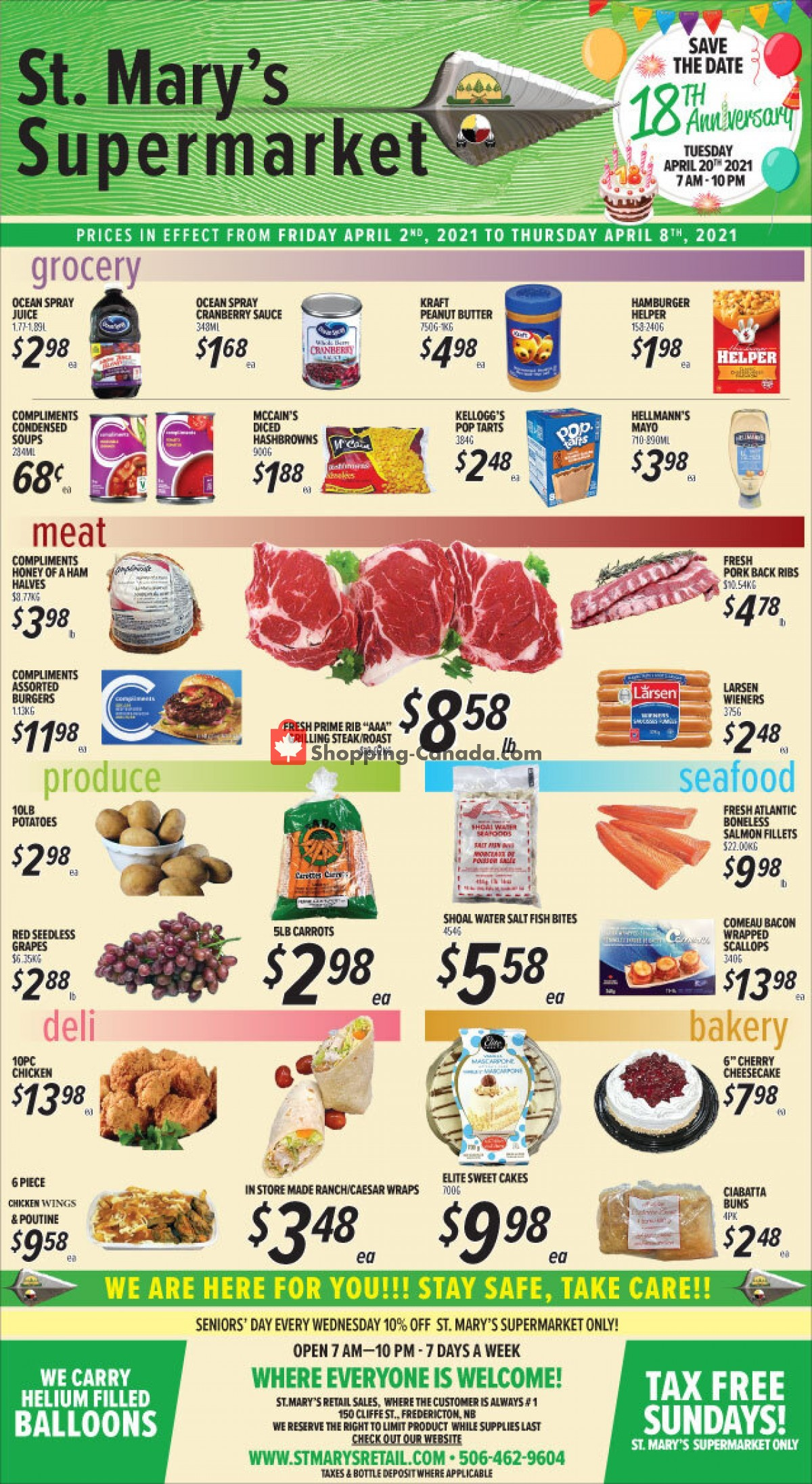 Flyer St. Mary's Supermarket Canada - from Friday April 2, 2021 to Thursday April 8, 2021