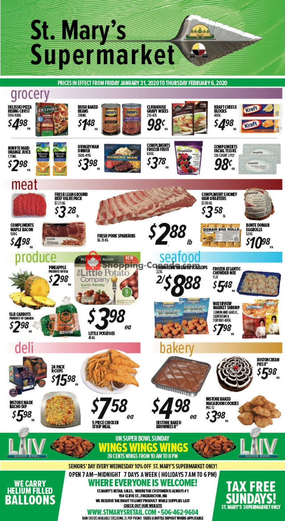 Flyer St. Mary's Supermarket Canada - from Friday January 31, 2020 to Thursday February 6, 2020