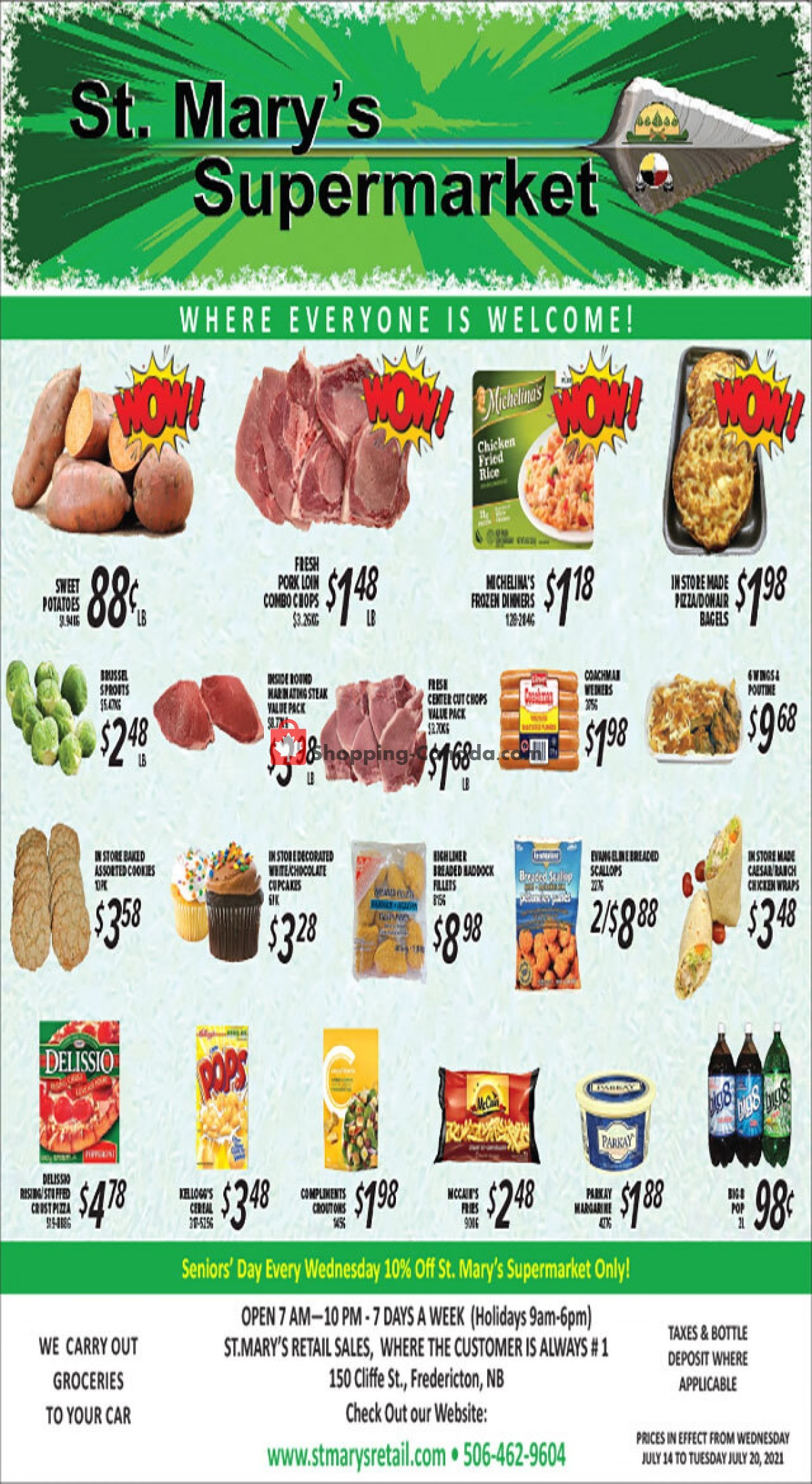 Flyer St. Mary's Supermarket Canada - from Wednesday July 14, 2021 to Tuesday July 20, 2021