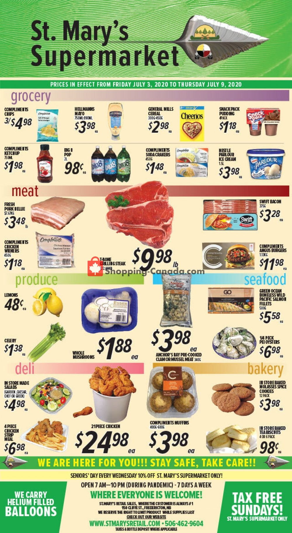 Flyer St. Mary's Supermarket Canada - from Friday July 3, 2020 to Thursday July 9, 2020