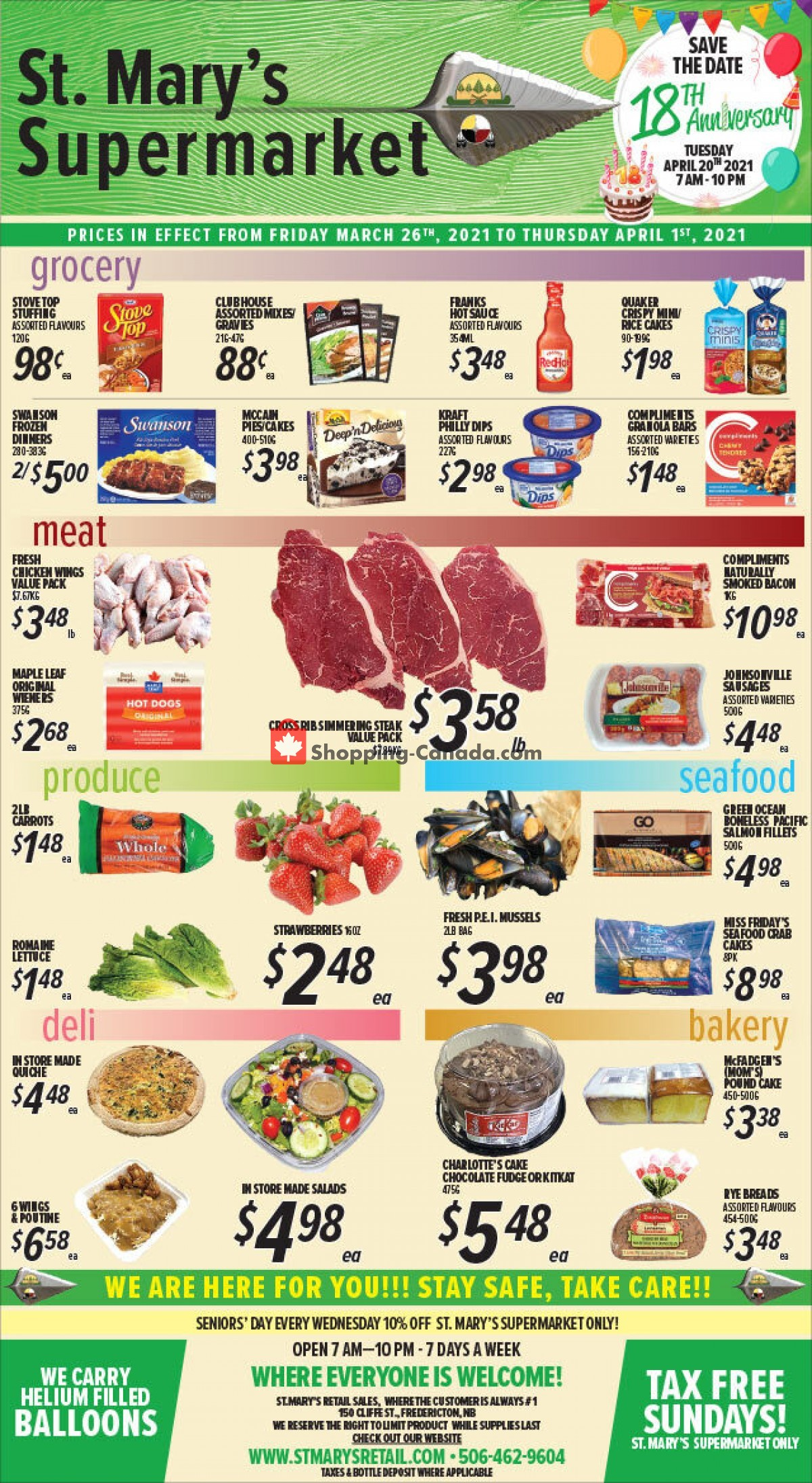 Flyer St. Mary's Supermarket Canada - from Friday March 26, 2021 to Thursday April 1, 2021