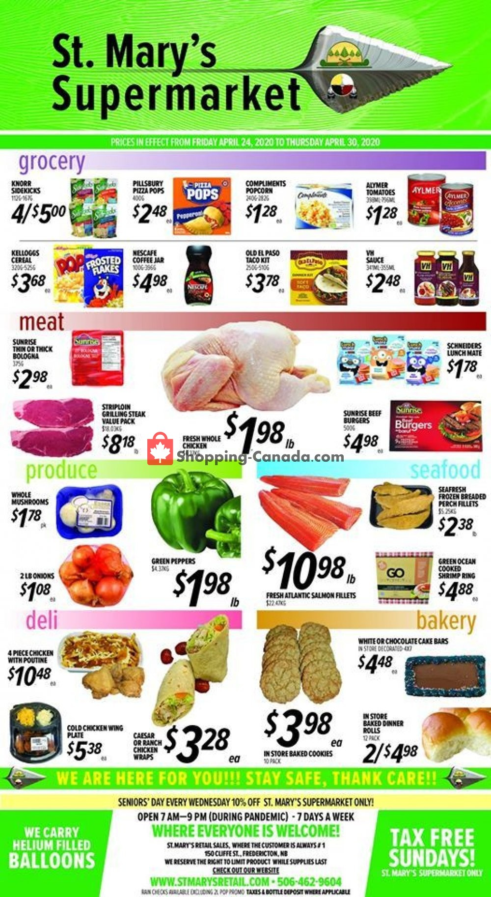 Flyer St. Mary's Supermarket Canada - from Friday April 24, 2020 to Thursday April 30, 2020