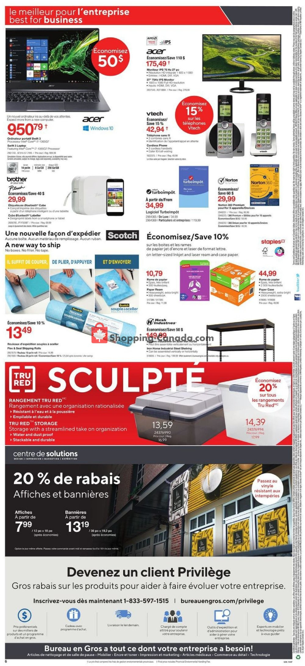 Flyer Staples Canada - from Wednesday January 8, 2020 to Tuesday January 14, 2020
