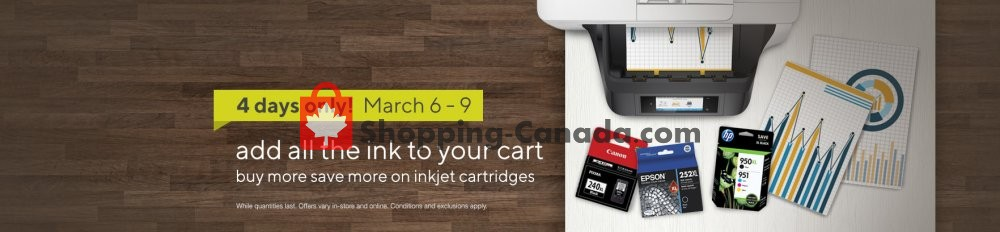 Flyer Staples Canada - from Wednesday March 6, 2019 to Saturday March 9, 2019