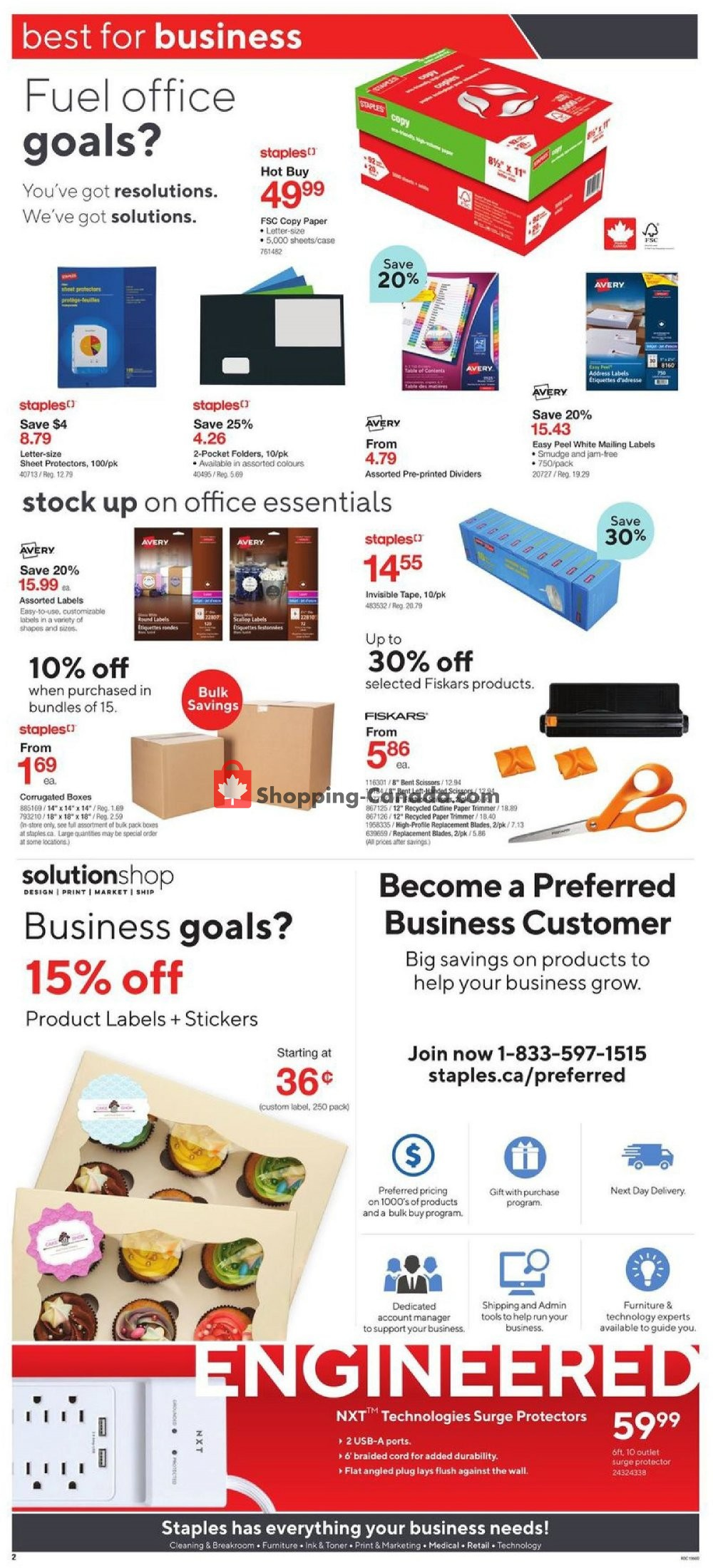 Flyer Staples Canada - from Wednesday January 15, 2020 to Tuesday January 21, 2020