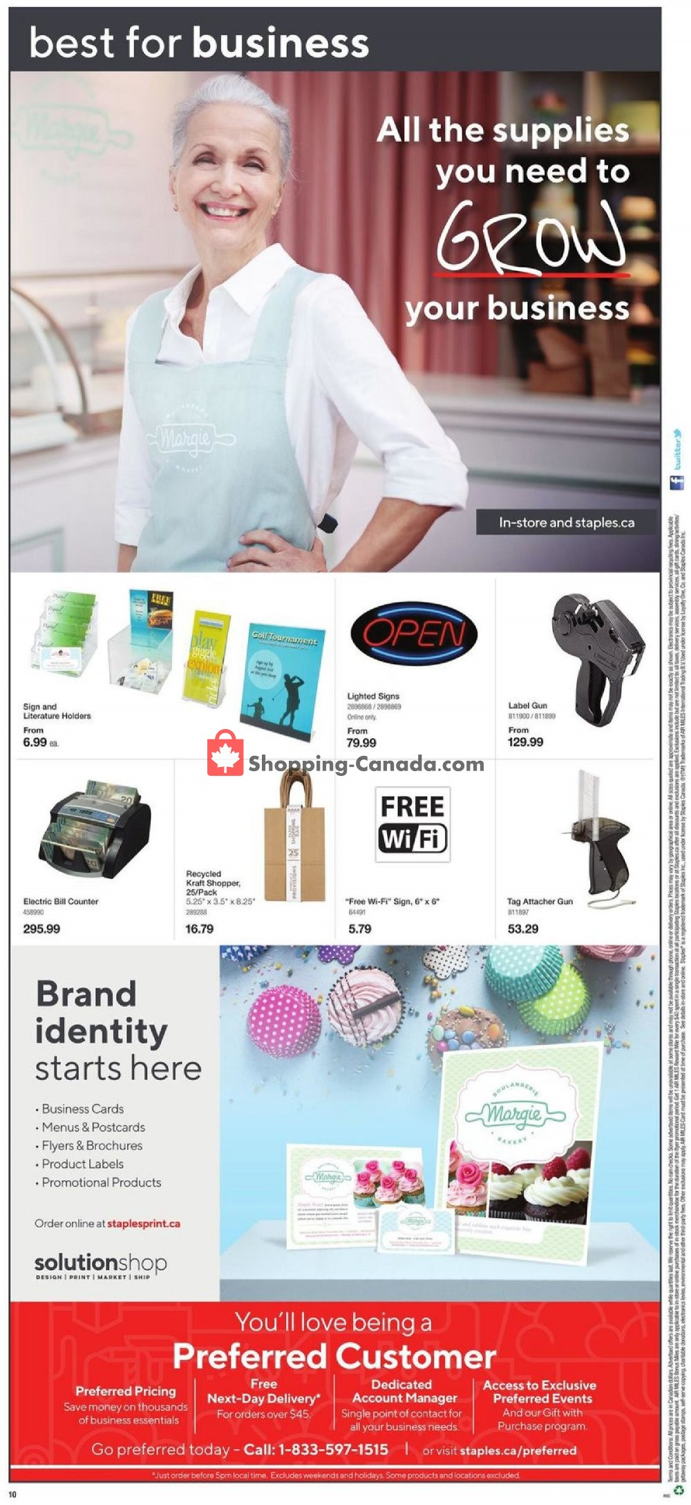 Flyer Staples Canada - from Wednesday July 10, 2019 to Tuesday July 16, 2019