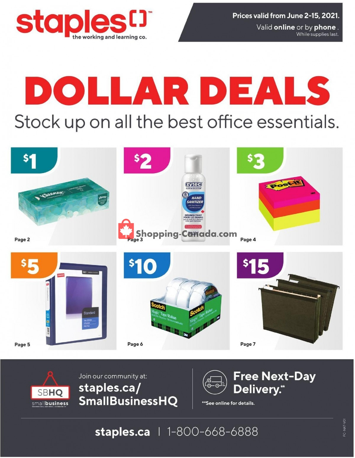 Flyer Staples Canada - from Wednesday June 2, 2021 to Tuesday June 15, 2021