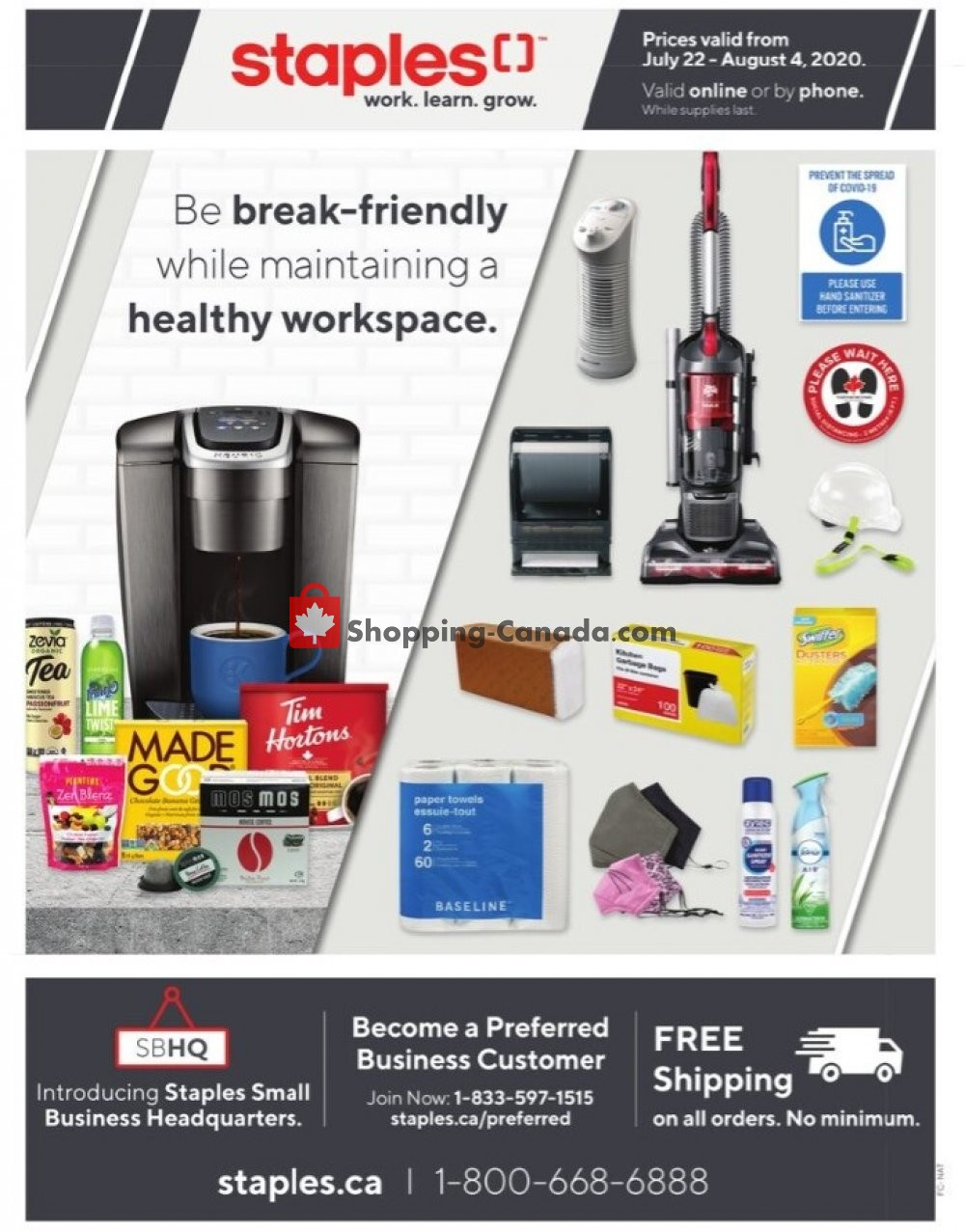 Flyer Staples Canada - from Wednesday July 22, 2020 to Tuesday August 4, 2020