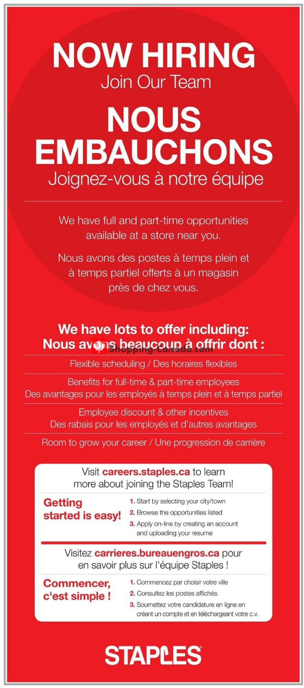Flyer Staples Canada - from Thursday October 25, 2018 to Tuesday November 20, 2018