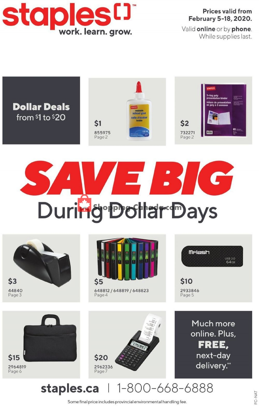 Flyer Staples Canada - from Wednesday February 5, 2020 to Tuesday February 18, 2020