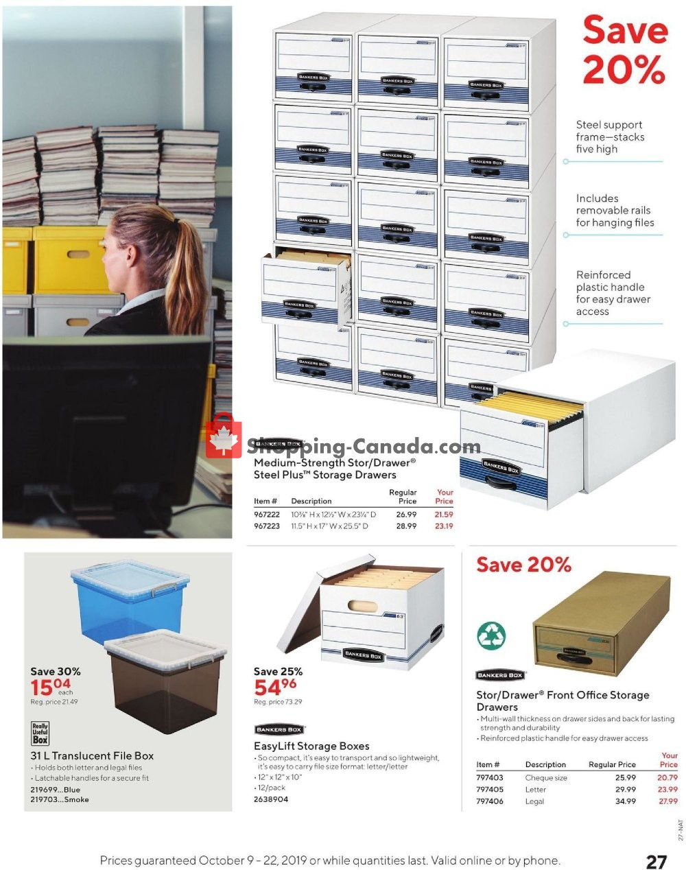 Flyer Staples Canada - from Wednesday October 9, 2019 to Tuesday October 22, 2019