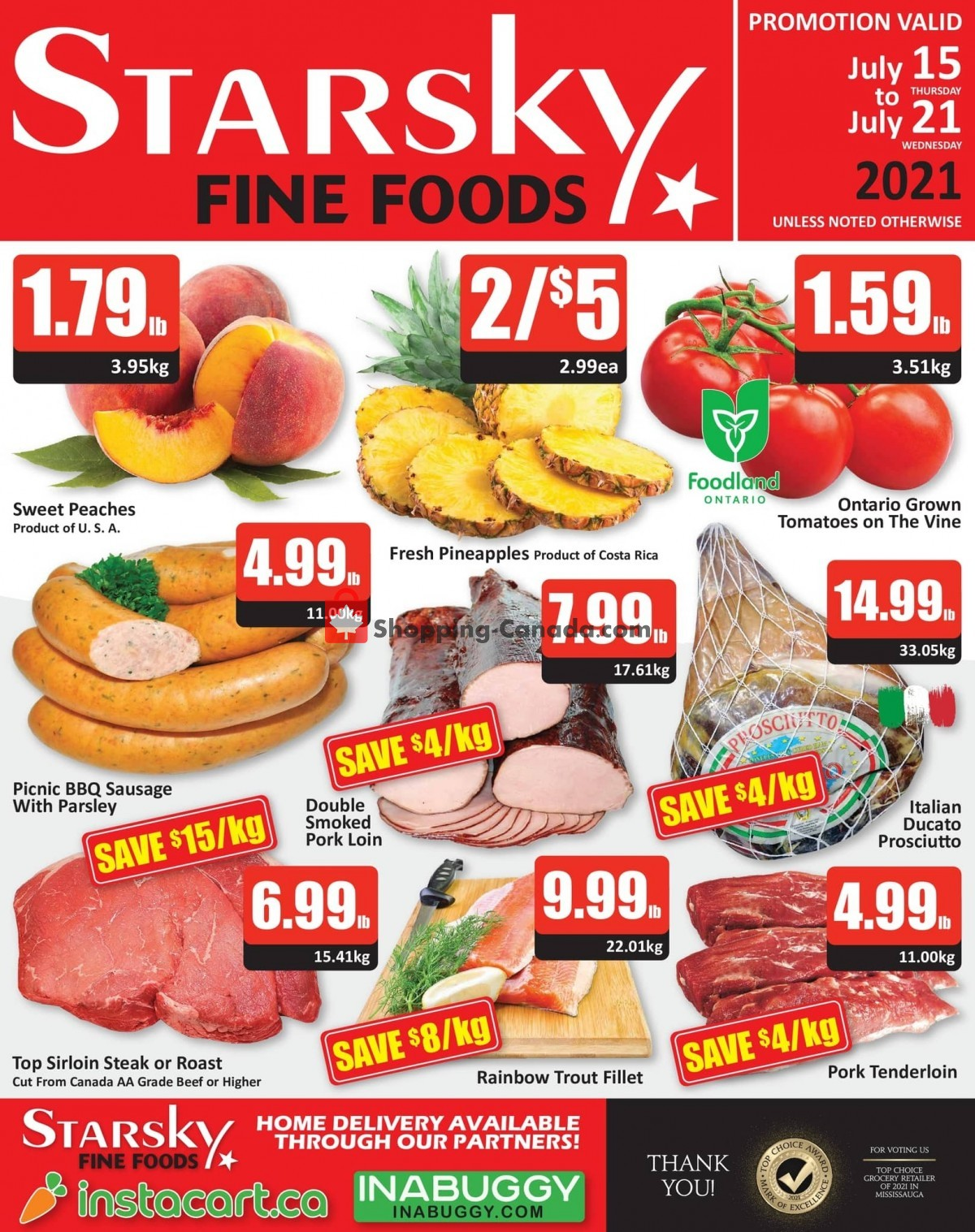 Flyer Starsky Foods Canada - from Thursday July 15, 2021 to Wednesday July 21, 2021