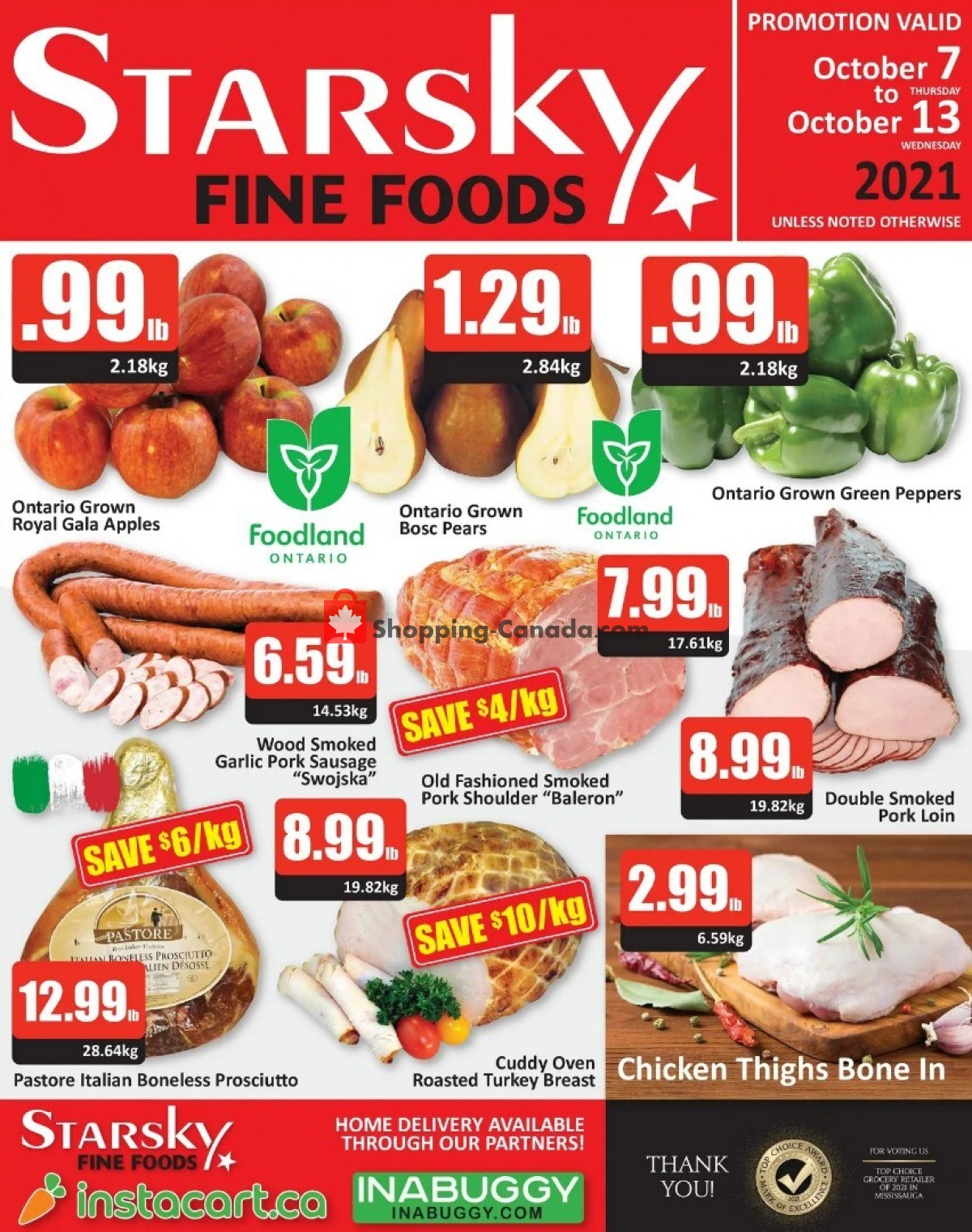 Flyer Starsky Foods Canada - from Thursday October 7, 2021 to Wednesday October 13, 2021