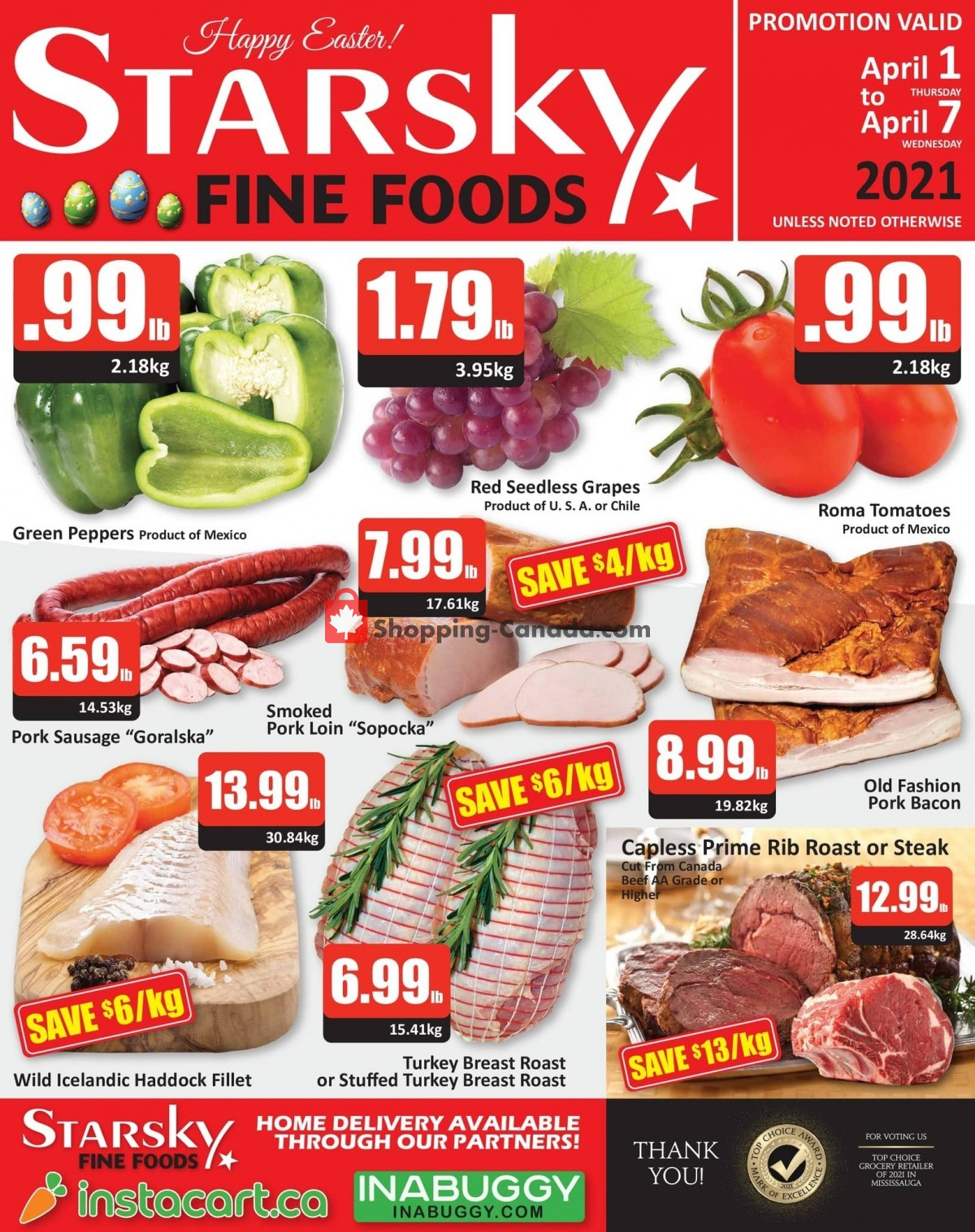 Flyer Starsky Foods Canada - from Thursday April 1, 2021 to Wednesday April 7, 2021