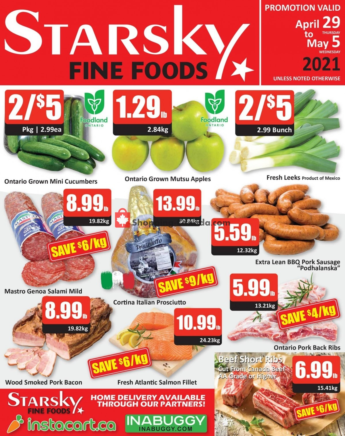 Flyer Starsky Foods Canada - from Thursday April 29, 2021 to Wednesday May 5, 2021